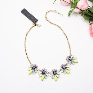 J CREW Crystal watchbird Necklace Dark